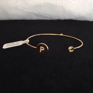 """NWT Tai Initial """"P"""" Cuff Bracelet"""
